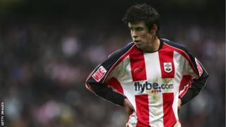 Gareth Bale when he was playing for Southampton