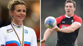 Becky James and George North