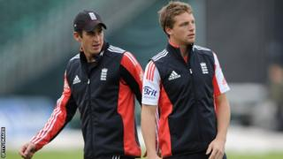 Craig Kieswetter and Jos Buttler in England training