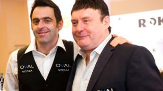 Ronnie O'Sullivan (left) with Jimmy White