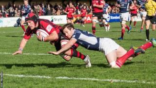 Guy Thompson scores v Scottish