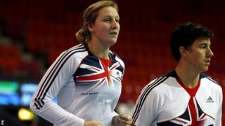 Great Britain's pole vaulters Holly Bleasdale (left) and Steve Lewis