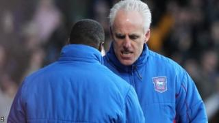 Ipswich manager Mick McCarthy celebrates