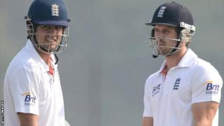 England duo Alastair Cook (left) and Nick Compton