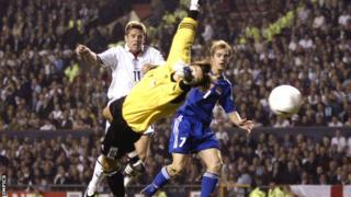James Beattie in action for England in 2003