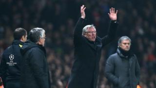 Sir Alex Ferguson reacts to Nani's red card
