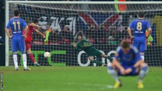 Raul Rusescu scores for Steaua Bucharest