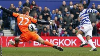 QPR striker Loic Remy scores for his side against Sunderland