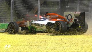 Paul Di Resta spins in his Force India