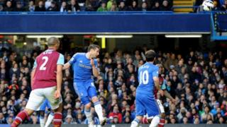 Frank Lampard scores his 200th Chelsea goal