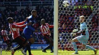 Titus Bramble scores an own goal