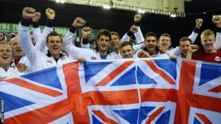 Great Britain celebrate victory