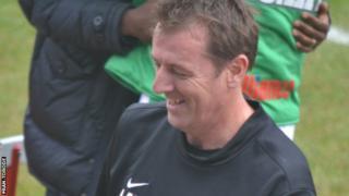 Matt Le Tissier made his Guernsey FC debut