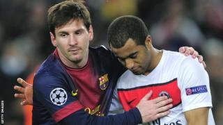Lionel Messi against PSG
