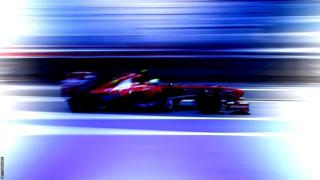 Felipe Massa drives his Ferrari in first practice