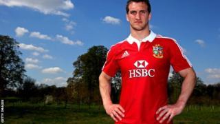 Lions captain Sam Warburton