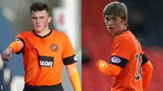 Dundee United youngsters John Souttar and Ryan Gauld