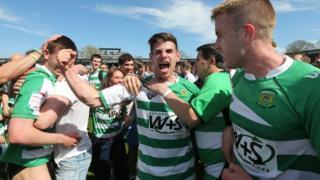 Yeovil players celebrate