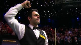 Ronnie O'Sullivan celebrates fifth world title