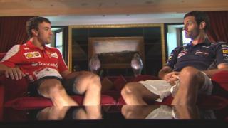 Fernando Alonso and Mark Webber