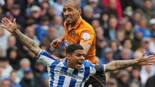 Karl Henry on the final day of the season at Brighton