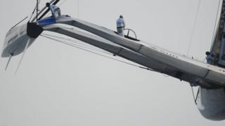 2010: Oracle's USA 17 is a 90ft, three-hulled giant with a solid wing sail. Alinghi answer with a 90ft catamaran with a bowsprit that takes it to 120ft overall but it is no match for the American monster which wins 2-0.