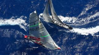 2007: Team New Zealand defended at home in 2003 but lost to Swiss team Alinghi back in Auckland in 2003. Four years later Alinghi (right) beat the Kiwis again in Valencia, Spain.