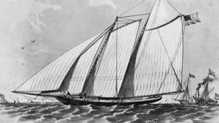 1851: US yacht 'America' wins the first trophy, later renamed the America's Cup, around the Isle of Wight.