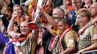 Bradford celebrate victory