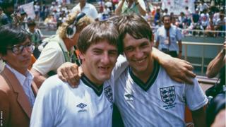 Peter Beardsley and Gary Lineker