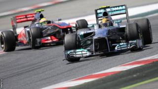 Lewis Hamilton and Sergio Perez