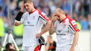 Johann Muller and Rory Best show their disappointment after Ulster's defeat in Dublin