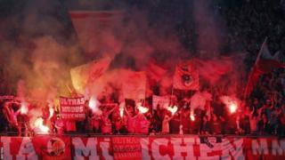 Bayern Munich fans at Wembley
