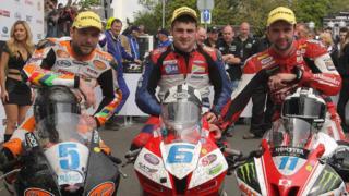 Bruce Anstey, Michael Dunlop and William Dunlop