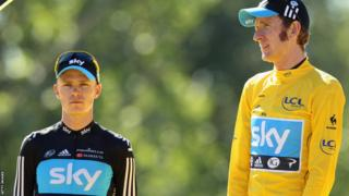 British cyclists Chris Froome and Sir Bradley Wiggins