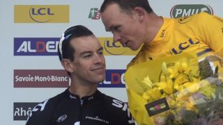 Team Sky's Richie Porte and Chris Froome