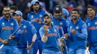 India celebrate victory