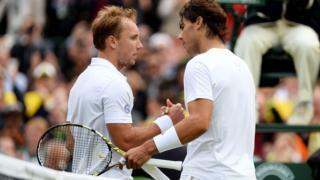 Darcis celebrates victory over Nadal