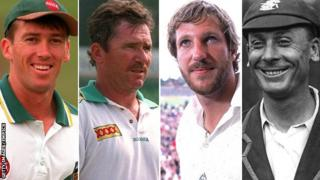Glenn McGrath, Allan Border, Ian Botham and Jack Hobbs