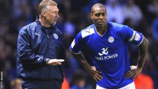 Leicester manager Nigel Pearson and captain Wes Morgan