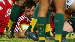 Australia v British and Irish Lions third Test Alex Corbisiero try