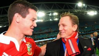 Australia v British and Irish Lions third Test Jonathan Sexton Daniel Craig
