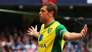 Grant Holt in action for Norwich