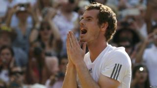 Andy Murray celebrates his moment of victory