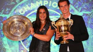Andy Murray with Marion Bartoli