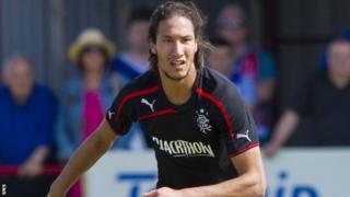 Belel Mohsni in action for Rangers