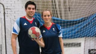Handball player Seb Prieto with Jen Offord