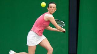 Deaf tennis player Catherine Fletcher