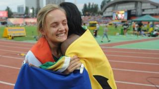 Athletes at the World Youth Championships