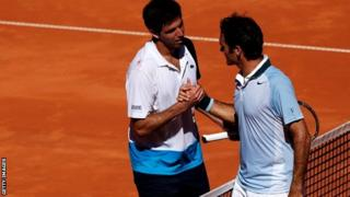 Federico Delbonis and Roger Federer